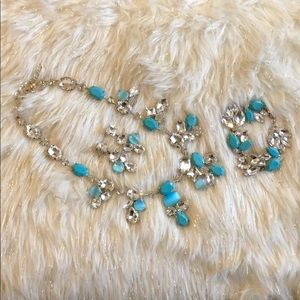 Jewelry - Set of necklace, bracelet, and earrings